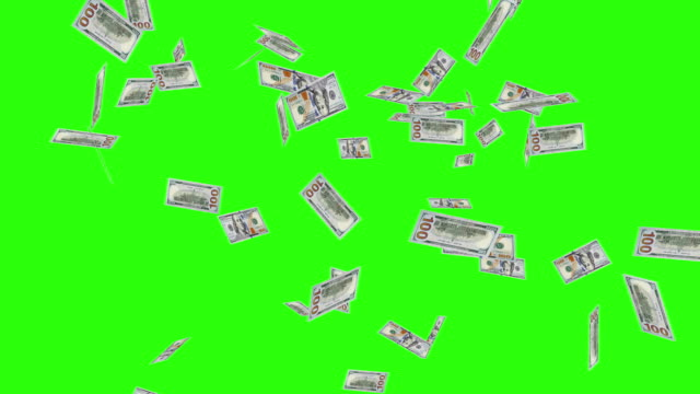 Raining New One Hundred Dollar Bills New One Hundred Dollar Bills Falling Through the Air. paper currency stock videos & royalty-free footage