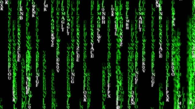 Raining Random Data Codes 4k.