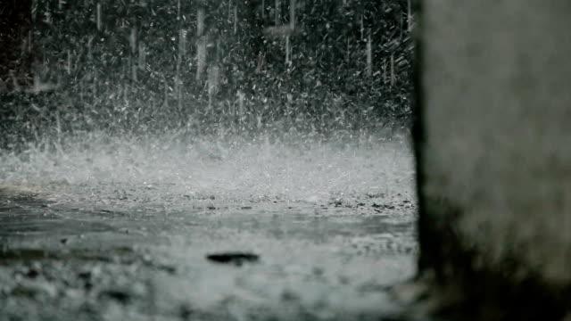 雨が降っています。スローモーション。 - 雨点の映像素材/bロール