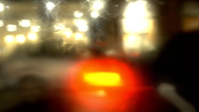 stockvideo's en b-roll-footage met regenachtige en mistige nacht station ontleend aan venster personenauto in verenigd koninkrijk - mist donker auto