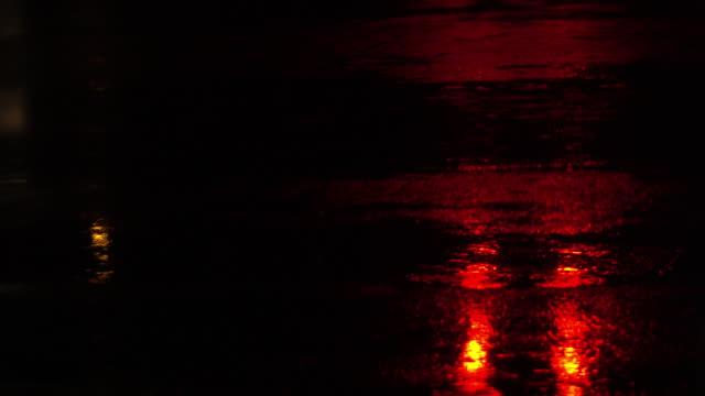 rainy dark night on road video