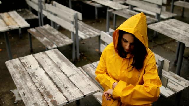 Rainy day in the city park