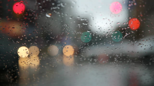 Rainy day. Traffic passes. video