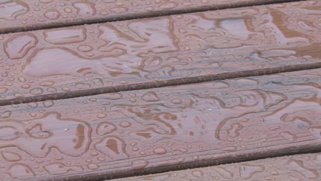 Rainy deck 3 - HD 30F video