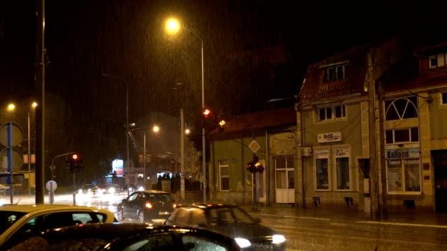 Rainy night in the city video