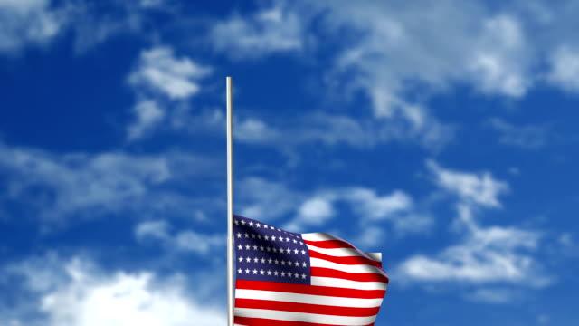 Raising American flag - ceremony video