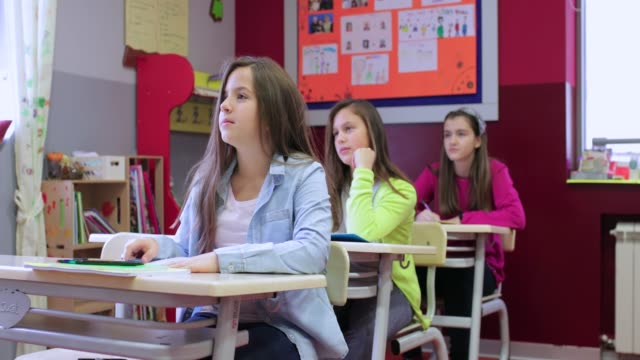 Raising hands on class
