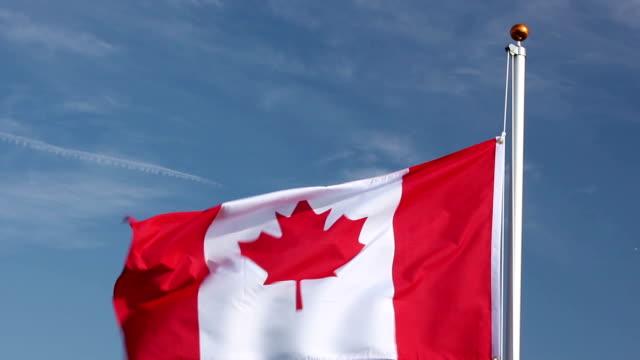 Raising the Canadian Flag video