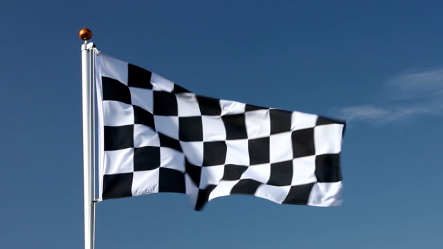 Raising the chequered flag video