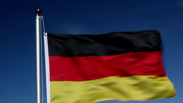 Raising the Germany national flag video