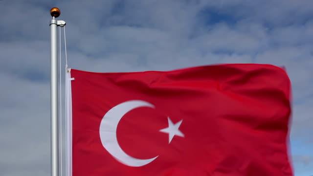Raising the Turkey Flag video