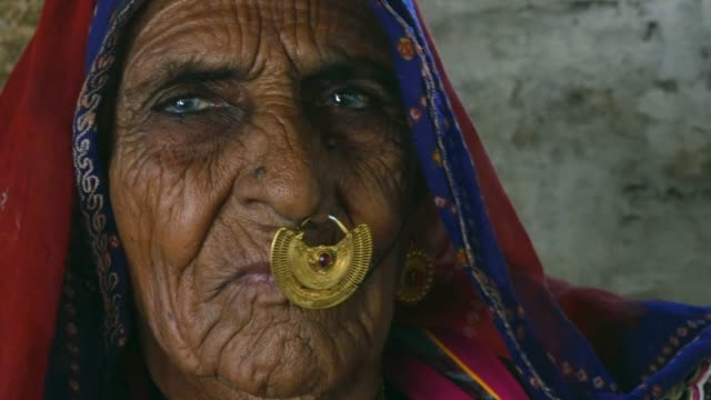 Rajasthani woman at a small village in India video