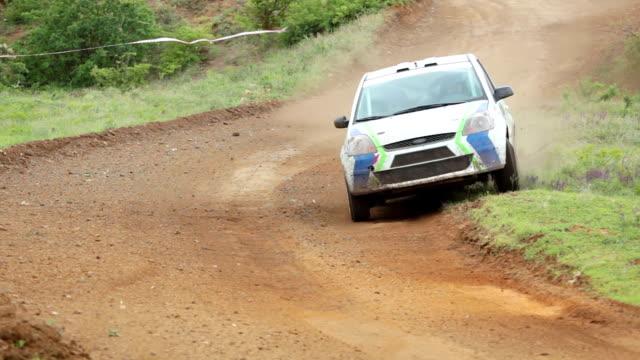 Rally car. Dangerous turn video