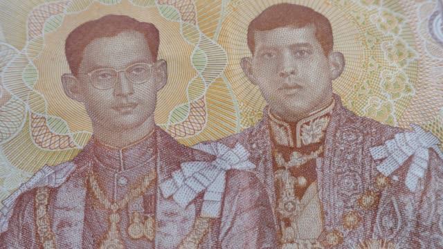 rama ix och rama x på thailand thb baht sedel - kungen av thailand bildbanksvideor och videomaterial från bakom kulisserna