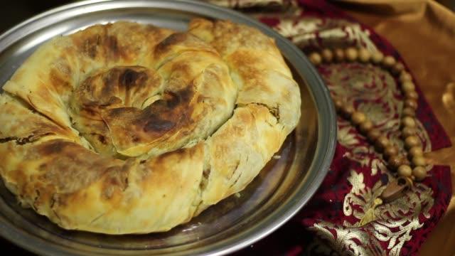 ramadan fasting. iftar meal - поститься стоковые видео и кадры b-roll