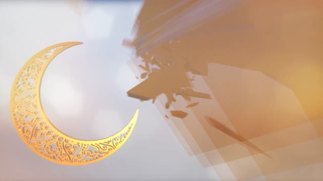 Ramazan kareem 3d animasyon arka plan video