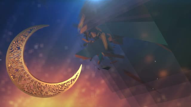 ramadan kareem 3d animation background - ramadan stock videos and b-roll footage