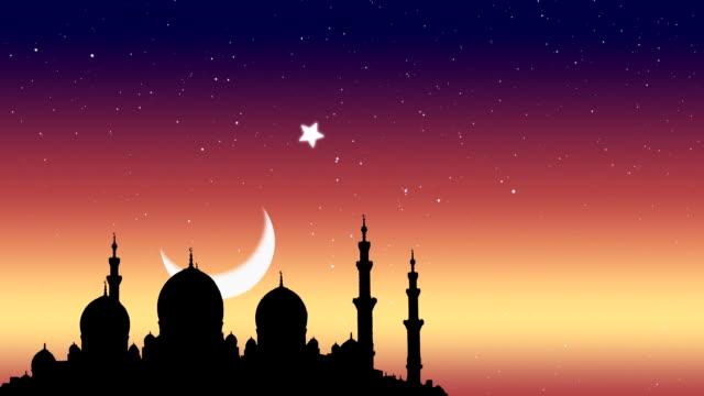 Ramadan Kareem islâmico plano de fundo. - vídeo