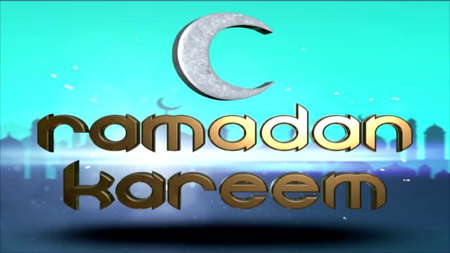 vídeos y material grabado en eventos de stock de ramadán el mes sagrado del eid kareem islámica saludo - eid mubarak