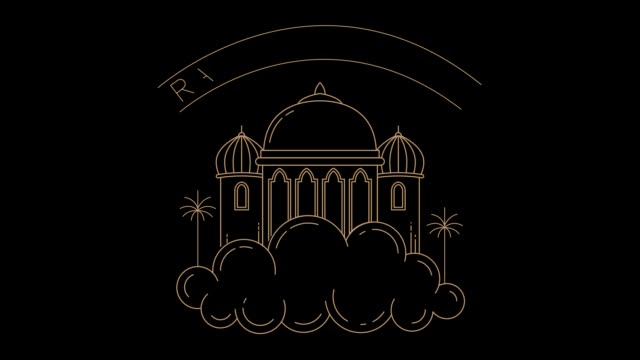 ramadan kareem moské hälsning i molnet - eid al fitr bildbanksvideor och videomaterial från bakom kulisserna