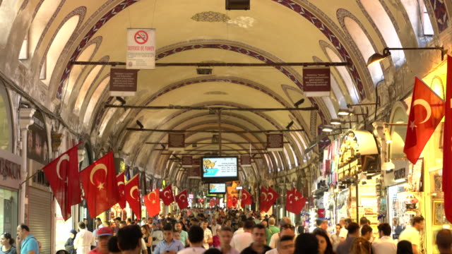 Ramadan shopping in Grand Bazaar in Istanbul. Timelapse Ramadan shopping in grand bazaar istanbul souvenir stock videos & royalty-free footage