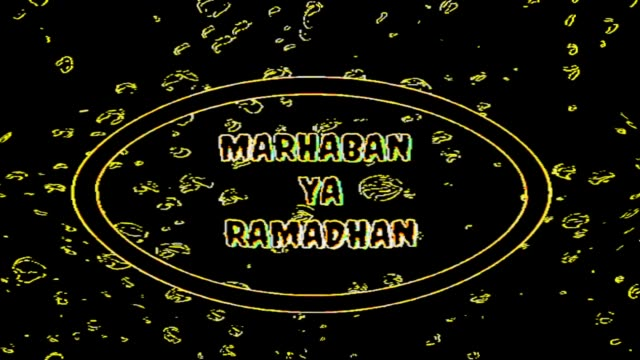 ramadan text, with a black background - фанус стоковые видео и кадры b-roll
