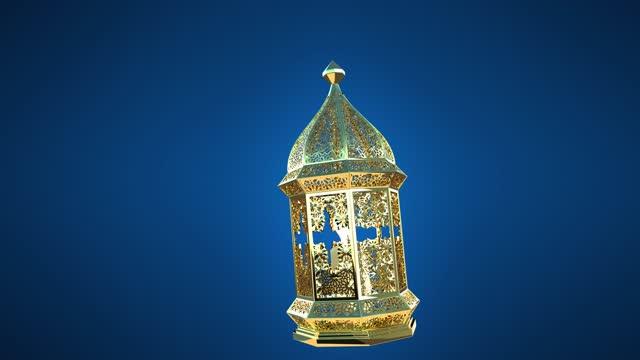 ramadan, den islamiska lyktan svänger långsamt som en pendel i en slinga. - ramadan lykta bildbanksvideor och videomaterial från bakom kulisserna