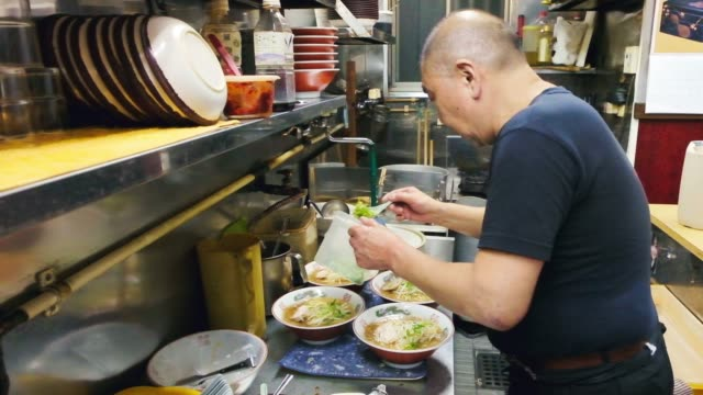 ramen shop in tokyo japan - small business stock videos & royalty-free footage