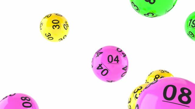 Bolas de lotería al azar - vídeo