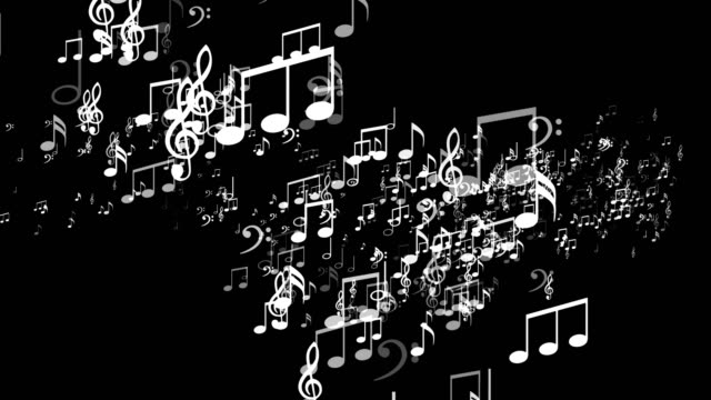 Random Music Note Explosion, Animation, video