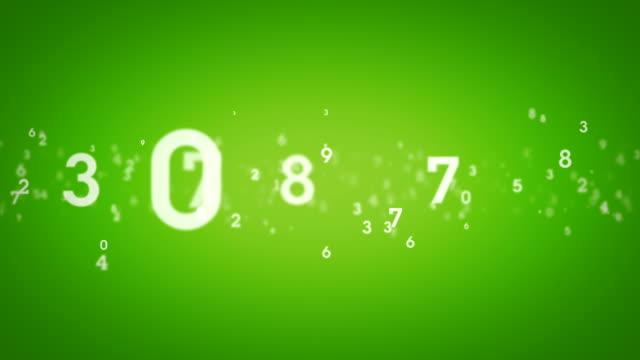 Random Numbers Green Tracking video