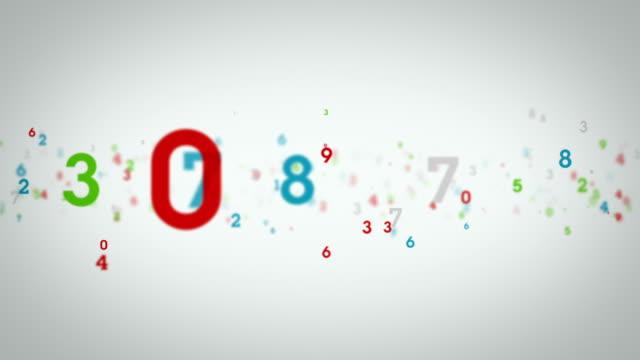 Random Numbers White Tracking video