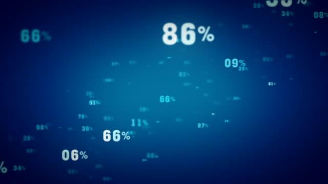 Random Percentages Blue Tracking video