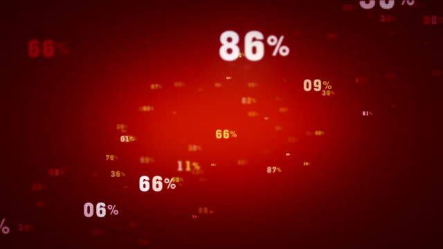 Random Percentages Red Tracking video