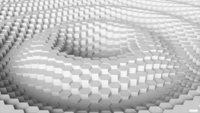 六角形からランダムに振るモーション抽象的な背景 - 彫刻点の映像素材/bロール