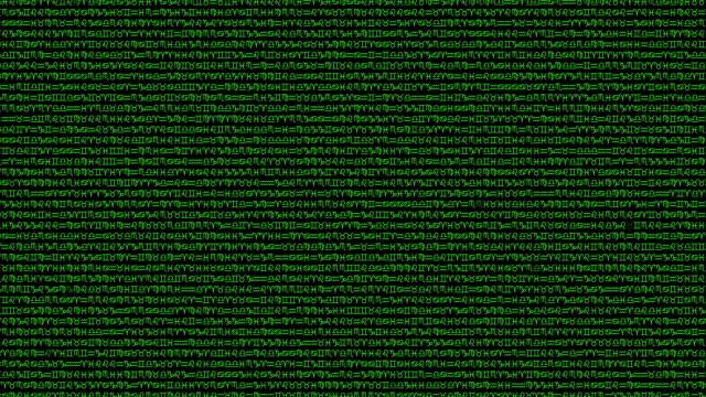 Random Zodiac Signs Background in a Matrix Style video