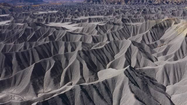 Range Of Mountains Of Monochrome Steel Gray Sandstone In The Canyon Of River