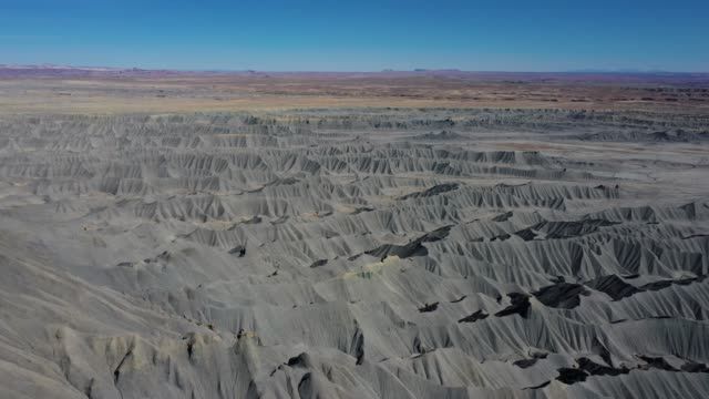 Range Of Mountains Of Steel Gray Color Sandstone In The Canyon Aerial View