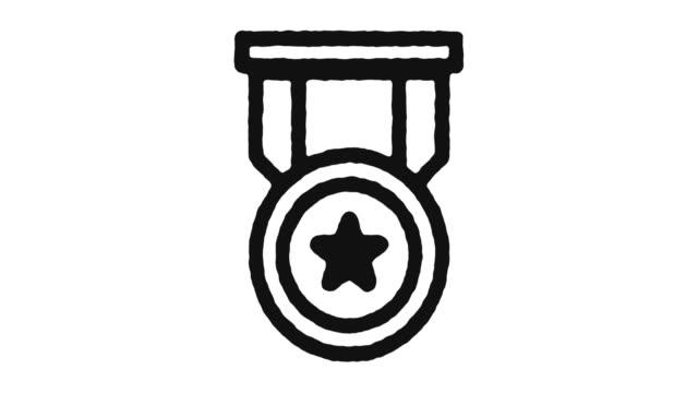 vídeos de stock, filmes e b-roll de ranking icon animation footage & alpha channel - distintivo