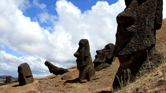 Rano Raraku Moais, Easter Island, Chile video