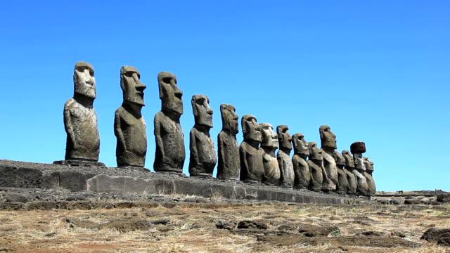 Rapa Nui Moais, Easter Island, Chile video
