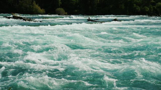 Rapid course of the Niagara River. Slow motion hd video video