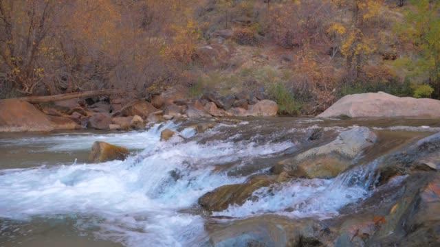 stockvideo's en b-roll-footage met snelle in de bergen met stromende water in een super slow motion 180fps - rivieroever