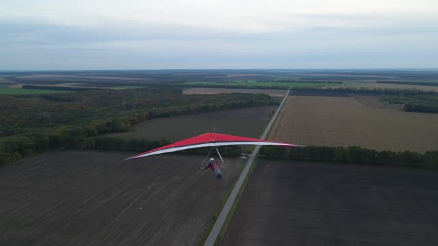 Rare drone footage of chasing real hang glider wing