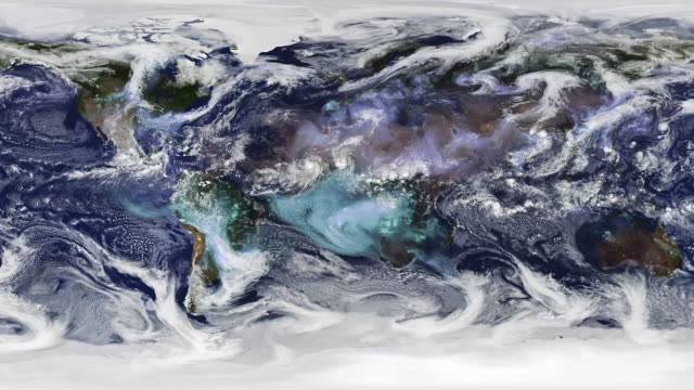 Rare Electric Blue Clouds Winds circulation on Earth. Nasa Public Domain Imagery meteorology stock videos & royalty-free footage