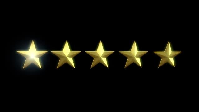 rating star element - evaluation filmów i materiałów b-roll