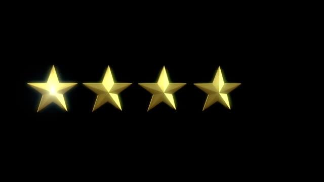 rating star element - feedback stock-videos und b-roll-filmmaterial