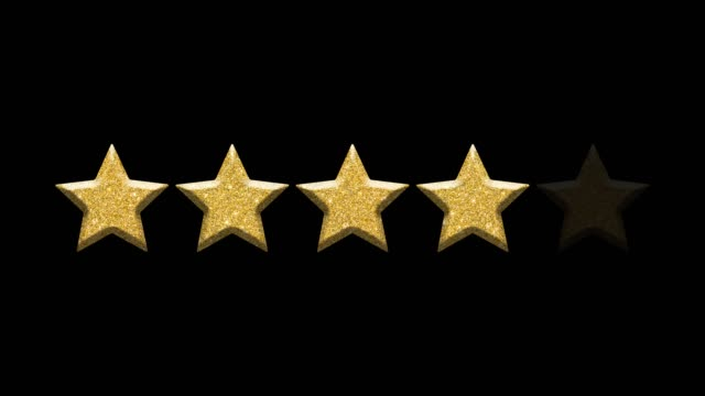 Rating stars on black background