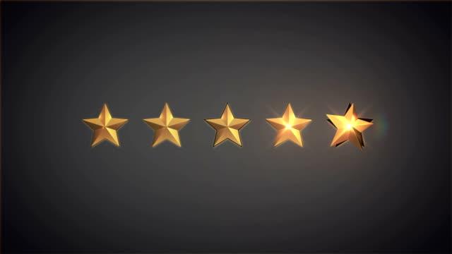 rating stars - evaluation filmów i materiałów b-roll