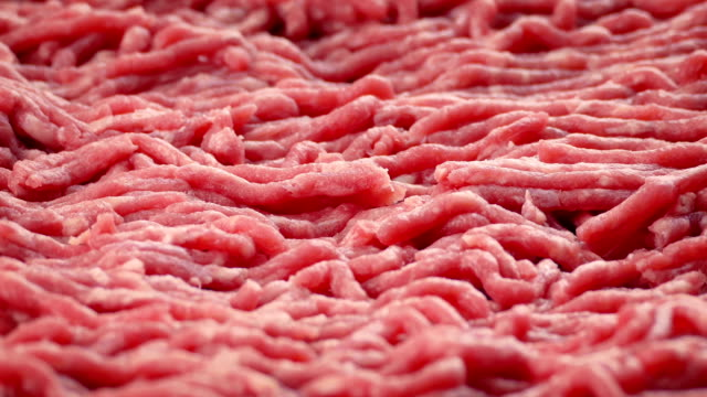 Raw Beef Mince Closeup of raw beef mince turning slowly raw footage stock videos & royalty-free footage